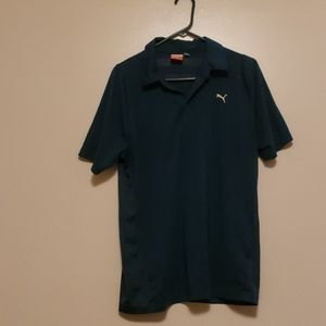 Puma Mens Hunter green golf/sport Polo Sz M
